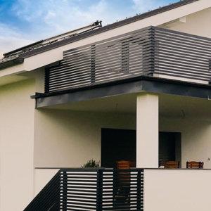 ALU ograja | balkon in stopnice
