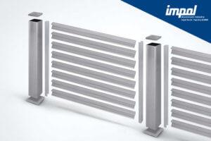 Aluminijasta ograja S profil - trgovina Alumix
