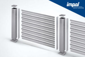 Aluminijasta ograja Z profil - trgovina Alumix